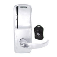 CO220-CY-75-MS-SPA-PD-625 Schlage Standalone Classroom Lockdown Solution Cylindrical Swipe locks in Bright Chrome