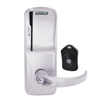 CO220-CY-75-MS-SPA-PD-626 Schlage Standalone Classroom Lockdown Solution Cylindrical Swipe locks in Satin Chrome
