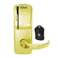 CO220-MS-75-MS-SPA-PD-605 Schlage Standalone Classroom Lockdown Solution Mortise Swipe locks in Bright Brass