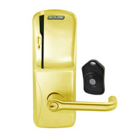 CO220-CY-75-MS-TLR-PD-605 Schlage Standalone Classroom Lockdown Solution Cylindrical Swipe locks in Bright Brass