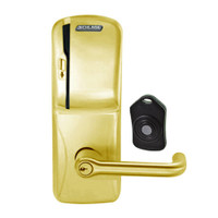 CO220-CY-75-MS-TLR-PD-606 Schlage Standalone Classroom Lockdown Solution Cylindrical Swipe locks in Satin Brass