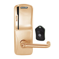 CO220-CY-75-MS-TLR-PD-612 Schlage Standalone Classroom Lockdown Solution Cylindrical Swipe locks in Satin Bronze