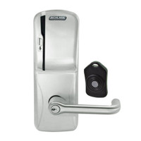 CO220-CY-75-MS-TLR-PD-619 Schlage Standalone Classroom Lockdown Solution Cylindrical Swipe locks in Satin Nickel