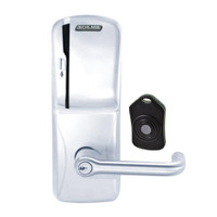 CO220-CY-75-MS-TLR-PD-625 Schlage Standalone Classroom Lockdown Solution Cylindrical Swipe locks in Bright Chrome