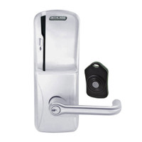 CO220-CY-75-MS-TLR-PD-626 Schlage Standalone Classroom Lockdown Solution Cylindrical Swipe locks in Satin Chrome