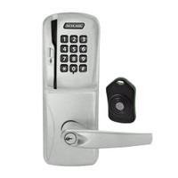 CO220-CY-75-MSK-ATH-PD-619 Schlage Standalone Classroom Lockdown Solution Cylindrical Swipe with Keypad locks in Satin Nickel