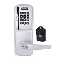 CO220-CY-75-MSK-ATH-PD-626 Schlage Standalone Classroom Lockdown Solution Cylindrical Swipe with Keypad locks in Satin Chrome