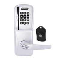 CO220-MS-75-MSK-ATH-PD-625 Schlage Standalone Classroom Lockdown Solution Mortise Swipe Keypad Lock with in Bright Chrome