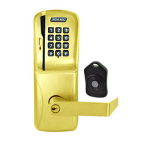 CO220-CY-75-MSK-RHO-PD-605 Schlage Standalone Classroom Lockdown Solution Cylindrical Swipe with Keypad locks in Bright Brass