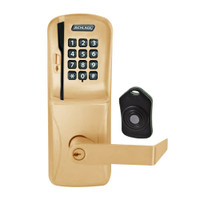 CO220-CY-75-MSK-RHO-PD-612 Schlage Standalone Classroom Lockdown Solution Cylindrical Swipe with Keypad locks in Satin Bronze