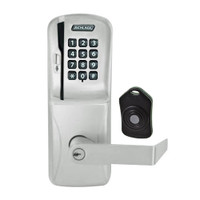 CO220-CY-75-MSK-RHO-PD-619 Schlage Standalone Classroom Lockdown Solution Cylindrical Swipe with Keypad locks in Satin Nickel
