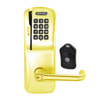 CO220-CY-75-MSK-TLR-PD-605 Schlage Standalone Classroom Lockdown Solution Cylindrical Swipe with Keypad locks in Bright Brass