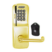 CO220-CY-75-MSK-TLR-PD-606 Schlage Standalone Classroom Lockdown Solution Cylindrical Swipe with Keypad locks in Satin Brass