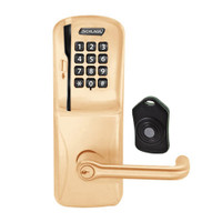 CO220-CY-75-MSK-TLR-PD-612 Schlage Standalone Classroom Lockdown Solution Cylindrical Swipe with Keypad locks in Satin Bronze