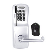 CO220-CY-75-MSK-TLR-PD-625 Schlage Standalone Classroom Lockdown Solution Cylindrical Swipe with Keypad locks in Bright Chrome