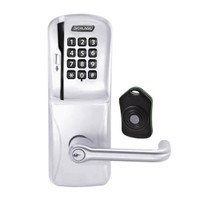 CO220-CY-75-MSK-TLR-PD-626 Schlage Standalone Classroom Lockdown Solution Cylindrical Swipe with Keypad locks in Satin Chrome