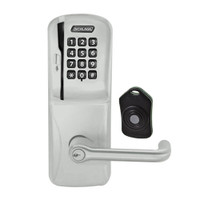 CO220-MS-75-MSK-TLR-PD-619 Schlage Standalone Classroom Lockdown Solution Mortise Swipe Keypad Lock with in Satin Nickel