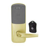 CO220-MS-75-PR-ATH-PD-606 Schlage Standalone Classroom Lockdown Solution Mortise Proximity Locks in Satin Brass