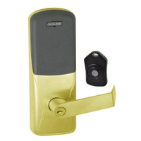 CO220-CY-75-PR-RHO-PD-605 Schlage Standalone Classroom Lockdown Solution Cylindrical Proximity locks in Bright Brass