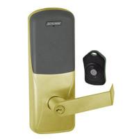 CO220-CY-75-PR-RHO-PD-606 Schlage Standalone Classroom Lockdown Solution Cylindrical Proximity locks in Satin Brass