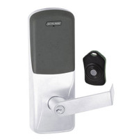 CO220-CY-75-PR-RHO-PD-625 Schlage Standalone Classroom Lockdown Solution Cylindrical Proximity locks in Bright Chrome