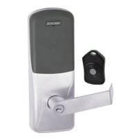CO220-CY-75-PR-RHO-PD-626 Schlage Standalone Classroom Lockdown Solution Cylindrical Proximity locks in Satin Chrome
