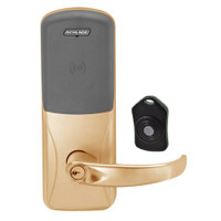 CO220-CY-75-PR-SPA-PD-612 Schlage Standalone Classroom Lockdown Solution Cylindrical Proximity locks in Satin Bronze