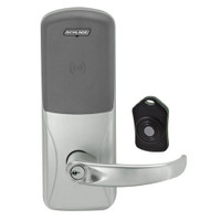 CO220-CY-75-PR-SPA-PD-619 Schlage Standalone Classroom Lockdown Solution Cylindrical Proximity locks in Satin Nickel