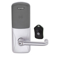 CO220-CY-75-PR-TLR-PD-626 Schlage Standalone Classroom Lockdown Solution Cylindrical Proximity locks in Satin Chrome