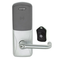 CO220-MS-75-PR-TLR-PD-619 Schlage Standalone Classroom Lockdown Solution Mortise Proximity Locks in Satin Nickel