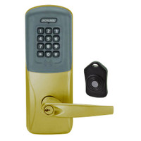 CO220-CY-75-PRK-ATH-PD-606 Schlage Standalone Classroom Lockdown Solution Cylindrical Proximity Keypad with in Satin Brass