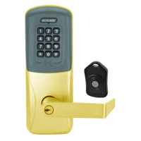 CO220-CY-75-PRK-RHO-PD-605 Schlage Standalone Classroom Lockdown Solution Cylindrical Proximity Keypad with in Bright Brass