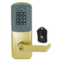 CO220-CY-75-PRK-RHO-PD-606 Schlage Standalone Classroom Lockdown Solution Cylindrical Proximity Keypad with in Satin Brass