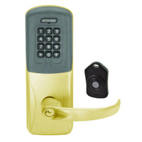 CO220-CY-75-PRK-SPA-PD-605 Schlage Standalone Classroom Lockdown Solution Cylindrical Proximity Keypad with in Bright Brass