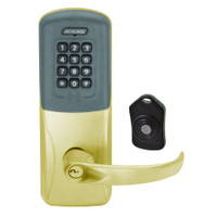 CO220-CY-75-PRK-SPA-PD-606 Schlage Standalone Classroom Lockdown Solution Cylindrical Proximity Keypad with in Satin Brass