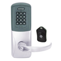 CO220-CY-75-PRK-SPA-PD-626 Schlage Standalone Classroom Lockdown Solution Cylindrical Proximity Keypad with in Satin Chrome