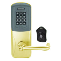 CO220-CY-75-PRK-TLR-PD-605 Schlage Standalone Classroom Lockdown Solution Cylindrical Proximity Keypad with in Bright Brass
