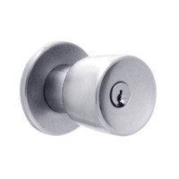 X521PD-EG-626 Falcon X Series Cylindrical Office Lock with Elite-Gala Knob Style in Satin Chrome Finish