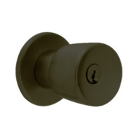 X411PD-EG-613 Falcon X Series Cylindrical Asylum Lock with Elite-Gala Knob Style in Oil Rubbed Bronze Finish
