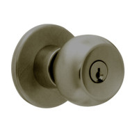 X581PD-TG-613 Falcon X Series Cylindrical Storeroom Lock with Troy-Gala Knob Style in Oil Rubbed Bronze Finish