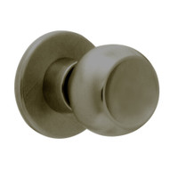 X12-TG-613 Falcon X Series Cylindrical Single Dummy Trim with Troy-Gala Knob Style in Oil Rubbed Bronze Finish