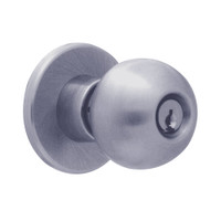 X581PD-HG-626 Falcon X Series Cylindrical Storeroom Lock with Hana-Gala Knob Style in Satin Chrome Finish