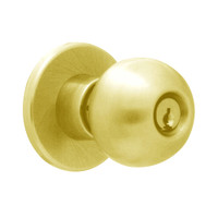 X581PD-HG-605 Falcon X Series Cylindrical Storeroom Lock with Hana-Gala Knob Style in Bright Brass Finish