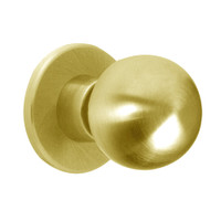 X301S-HG-605 Falcon X Series Cylindrical Privacy Lock with Hana-Gala Knob Style in Bright Brass Finish