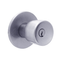 X581PD-EY-625 Falcon X Series Cylindrical Storeroom Lock with Elite-York Knob Style in Bright Chrome Finish