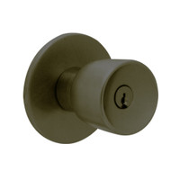 X411PD-EY-613 Falcon X Series Cylindrical Asylum Lock with Elite-York Knob Style in Oil Rubbed Bronze Finish