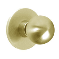 X101S-HY-606 Falcon X Series Cylindrical Passage Lock with Hana-York Knob Style in Satin Brass Finish