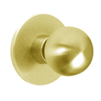 X12-HY-605 Falcon X Series Cylindrical Single Dummy Trim with Hana-York Knob Style in Bright Brass Finish