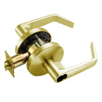 W561BD-D-606 Falcon W Series Cylindrical Classroom Lock with Dane Lever Style in Satin Brass Finish