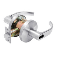W501BD-Q-625 Falcon W Series Cylindrical Entry Lock with Quantum Lever Style in Bright Chrome Finish